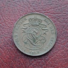 Belgium 1862 copper 2 centimes