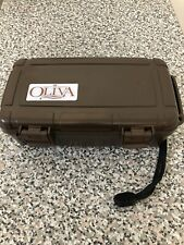Cigar Travel Case Humidor Waterproof Holder - Brown Oliva Edition - New