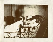 VINTAGE SLEEPING HIDDEN BABY BED CHAIR WALLPAPER ARTISTIC FINE VERNACULAR PHOTO