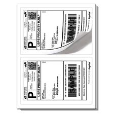 1000 Rounded Corner Shipping label sheets, 2 labels per, 2000 Total Labels