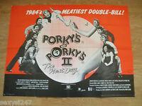 """PORKY'S AND PORKY'S 2 ORIGINAL 1983 CINEMA UK QUAD MOVIE FILM POSTER 30"""" X 40"""""""