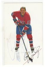 1985 Montréal Canadiens Craig  Ludwig  signed photo postcard