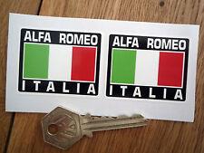 ALFA ROMEO ITALIA Tricolore Stil Aufkleber 50mm Paar Giulia Giulietta Spider GTV