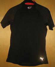 Puma T-Shirt Sportshirt Laufshirt schwarz mit Netz Netzshirt schwarz Gr. 42 XL