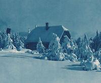 Hochkopf im Schwarzwald - Wormser Hütte im Schnee - um 1935
