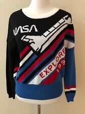 NASA Vtg Style Logo Crewneck Sweatshirt Retro Classic New 1992 Explore Sz S