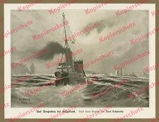 Teschinksy Submarine Outpost enemy Ride Heligoland North Sea Imperial Navy 1915