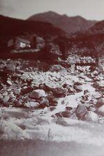Photographie ancienne 1899 Tourmalet Torrent Hautes Pyrénées Montagne Maison