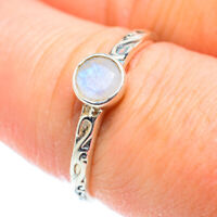 Rainbow Moonstone 925 Sterling Silver Ring Size 8 Ana Co Jewelry R51865F