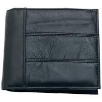 Embassy Men's Black Solid Genuine Leather Bi-Fold Wallet