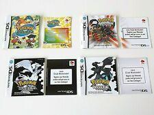Nintendo DS - Pokemon - 4 Instruction Booklets / Manuals - Bundle / Lot