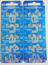RENATA  Watch Battery  #337 /SR416W  Swiss Made  20Pc