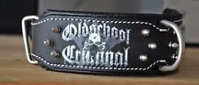 Dog Collar Hand Stitched- Stainless Steel Hardware- Spiked collar for Large Dogs