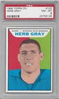 1965 Topps CFL Canadian Football Card #120 Herb Gray Winnipeg Blue Bombers PSA 8