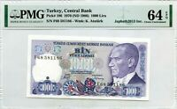 TURKEY 1000 LIRA 1970 ND 1986 CENTRAL BANK PICK 196 LUCKY MONEY VALUE $64