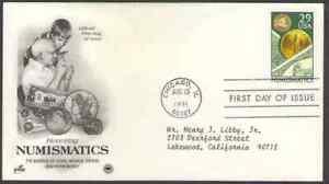 US. 2558. 29c. Numismatics. ArtCraft FDC. 1991