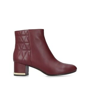 BNIB MICHEAL KORS WOMEN'S RED LEATHER LOW HEEL ANKLE BOOTS UK 4.5/37.5 RRP £225