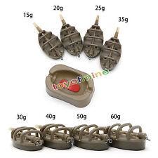 Méthode en ligne Chargeur de pêche carpe 4 Alimentateurs 15~60g Ensemble moules