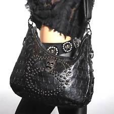 Totenkopf Tasche Gothic Bag Punk Fantasy Skull Deathhead Nieten Handtassche