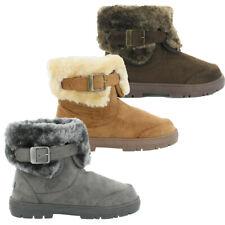 Womens Ella Shoes Santa Fe Boots Vegan Fux Fur Snug Warm Winter Ankle Boots