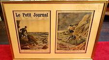 Le Petit Journal,1910,Untergang der General Chanzy,koloriert,im Rahmen