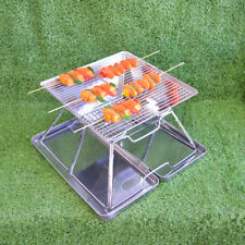 New Portable & Folding Stainless Steel Camping Firepit BBQ Stove -B4