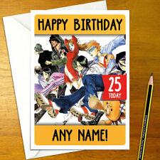 ANIME Personnalisé Manga. 5x7 pouces BLEACH carte d/'anniversaire
