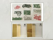 Anna Griffin Festive Words & Phrases CHRISTMAS Dies Embossing Folders Cuttlebug