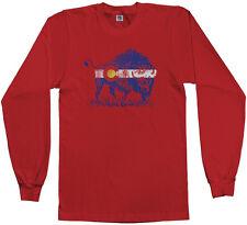 Threadrock Men's Buffalo Colorado Flag Long Sleeve T-shirt Denver State