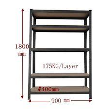 0.9x1.8m Steel Garage Warehouse Racking Storage Shelves Shelving Shelf 1-R090K