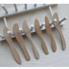 3 X Holz Hölzern Butter Messer Spachtel Portion Speisegabeln Zufällig Wahl Neu