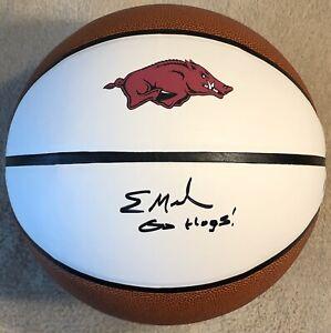 Eric Musselman Signed Autographed Arkansas Razorbacks Logo Basketball PSA/DNA