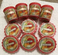 Yankee Candle Sweet Melon 4 Wrapped Sampler Votives And 6 Wrapped Tarts Retired