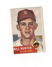 1953 Topps BILL HUNTER RC #166 St. Louis Brown VG