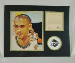Grant Hill Detroit Pistons Matted Lithograph - Kelly Russell Studios