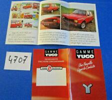 N°4707  /  2 dépliants YUGO 45 ZASTAVA et catalogue gamme type 45,55,Florida
