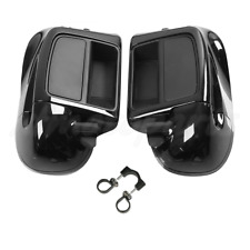 Black Lower Vented Leg Fairing Glove Box Fit For Harley Touring Glide 2014-2020