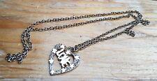 Vintage 90's Love Pendant Necklace/Heart Shaped/Retro/Kitsch