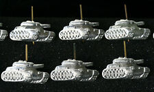 6 pcs Russian Soviet ARMY MILITARY INSIGNIA Tank Panzer Pin Badge for EPAULET A