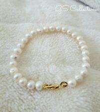 6-7MM White Akoya Pearl Bracelet. 18K  clasp .Cute pearls.