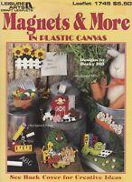 Magnets & More, Plastic Canvas Pattern Booklet LA 1745 Motifs Clips Bows & More!
