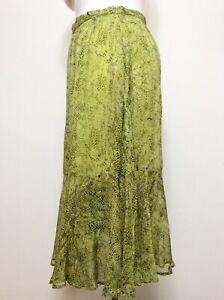 Women's Ghost London Mila Skirt, Sierra Snake Skirt Size XL BNWT