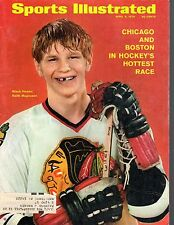 1970 4/6 Sports Illustrated magazine Hockey Keith Magnuson,Chicago Blackhawks Gd