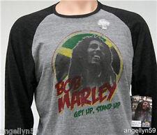 BILLABONG - BOB MARLEY  Mens T Shirt Gray & Dark Gray Size Large New with Tags