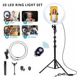 "10"" LED Ring Light with 2.1m Stand for Video Live Phone Selfie +Remote Control u"