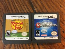 Lot of 2 Disney Games Phineas and Ferb (Nintendo DS) - Guaranteed to Work