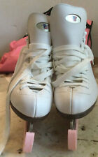 New listing VINTAGE RIEDELL ICE STAKES WHITE SIZE 9 STOCK 112W PO 20232 with bag