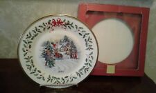 Lenox For The Holidays Santa Parade Annual Limited Edition 2001 Plate Nwt