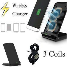 3 Coils Car Charger Dock Wireless Charging Pad Phone Holder for Samsung Galaxy