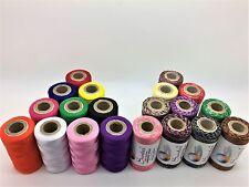 10 Indian Art Silk Machine Embroidery + 10 Variegated Thread Spools Multi Colour